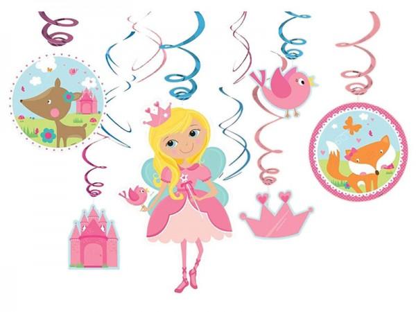 Dekospiralen Prinzessin Spiralen Prinzessinnen 12 Stk.