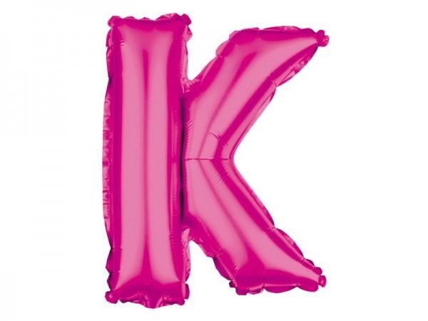Folienballon Buchstabe K pink Buchstabenballon