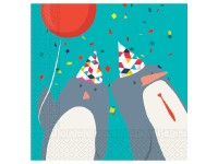 Servietten Arktis Pinguine