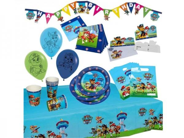 Geburtstagsdeko Set Paw Patrol Partydeko Set für Kindergeburtstag