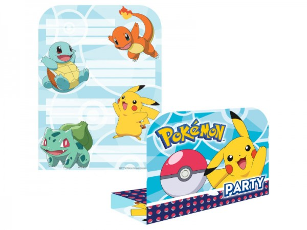 Geburtstagseinladungen Pokemon Einladungskarten Pikachu