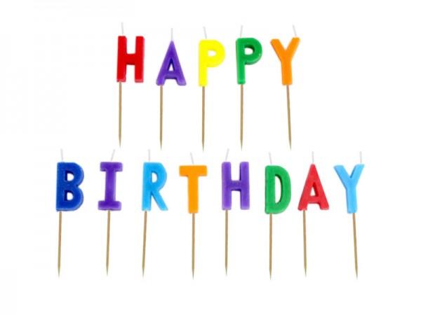 Geburtstagskerzen Happy Birthday Kerzen bunt
