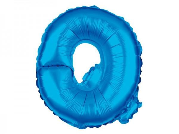Folienballon Buchstabe Q blau Buchstabenballon