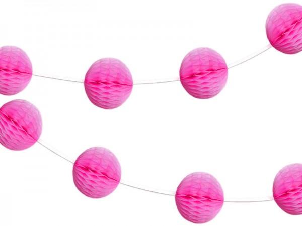 Wabenball Girlande pink