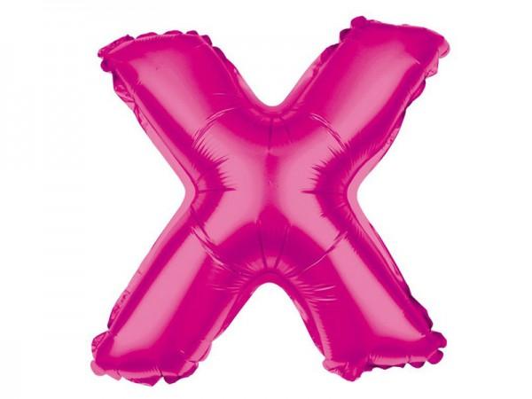 Folienballon Buchstabe X pink Buchstabenballon