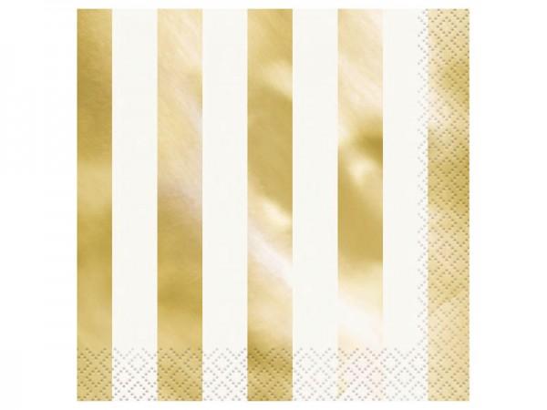 Servietten gold glänzend