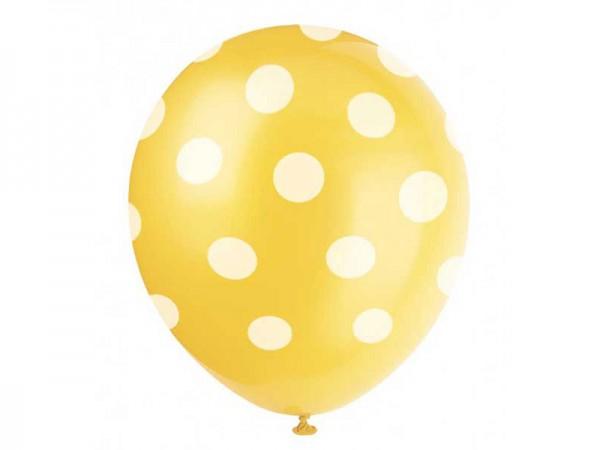 Luftballons gelb mit weißen Punkten