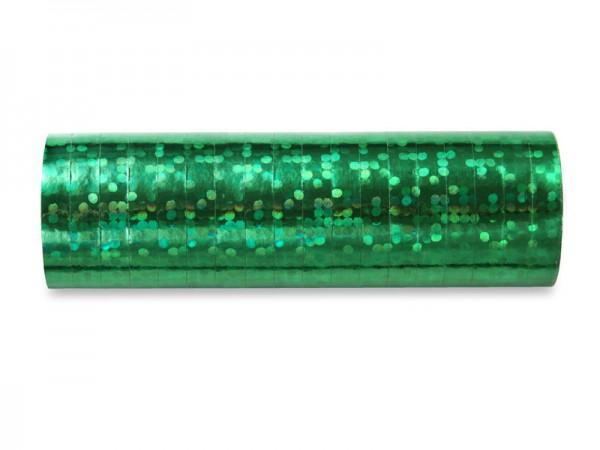 Luftschlangen grün holographisch