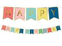 Girlande Happy Birthday Wimpelgirlande