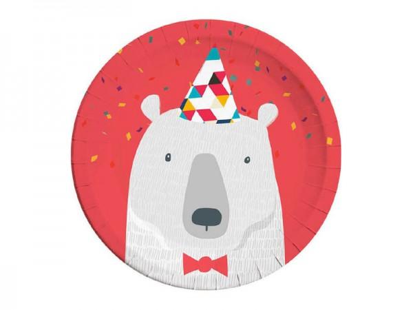 Pappteller Arktis Eisbär Partyteller