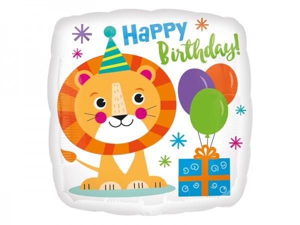 Folienballon mit Löwen Motiv