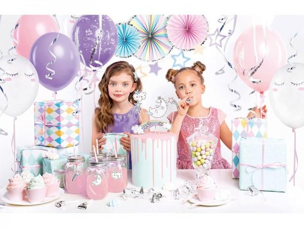 Geburtstagsdeko Set Einhorn Unicorn Partydeko Set für Kindergeburtstag