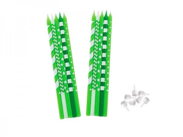 Kerzen grün-weiß Geburtstagskerzen