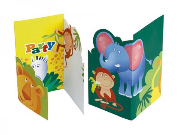 Geburtstagseinladungen Dschungeltiere Einladungskarten Safari Kindergeburtstag
