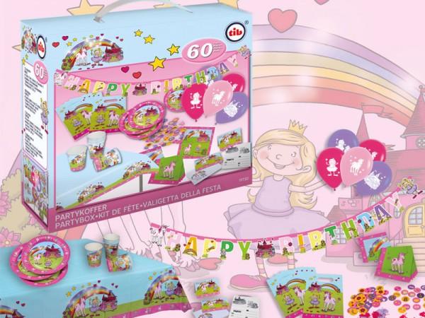Geburtstagsdeko Set Einhorn Partydeko Set für Kindergeburtstag
