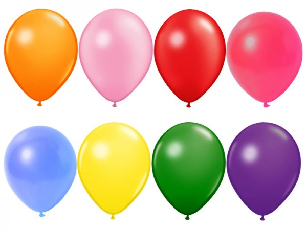 Mini Luftballons Metallic bunt