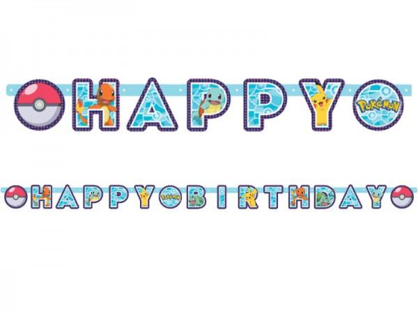 Buchstabenkette Pokemon Girlande Happy Birthday Pikachu
