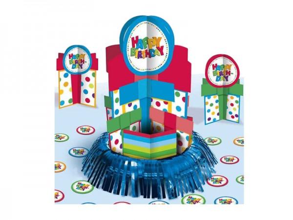 Tischdeko-Set Happy Birthday Tischaufsteller