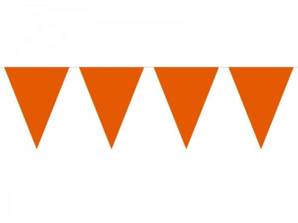 Wimpelkette orange 10m Wimpelgirlande