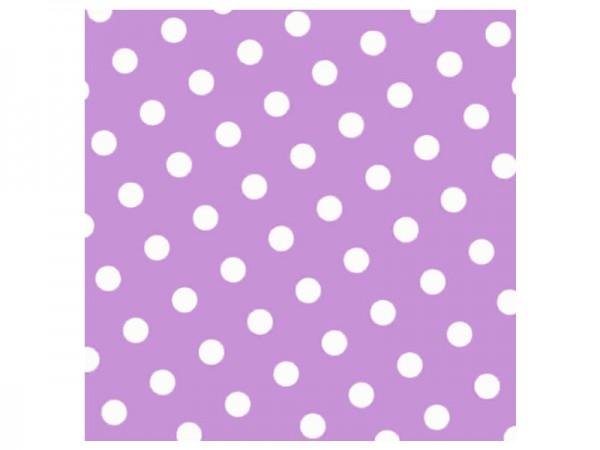 Servietten lila mit weißen Punkten