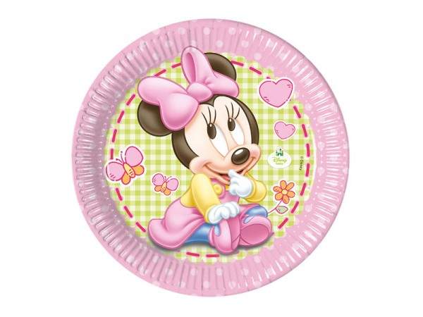 Pappteller Baby Minnie Mouse Partyteller