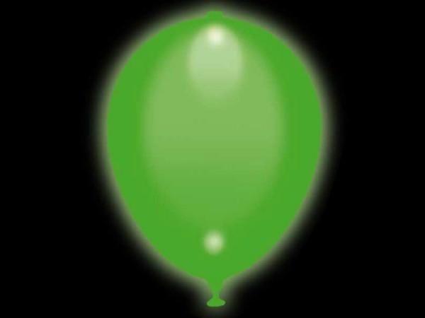 LED Luftballons grün 5 Stk.
