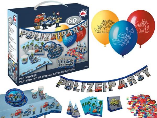Geburtstagsdeko Set Polizei Partydeko Set für Kindergeburtstag