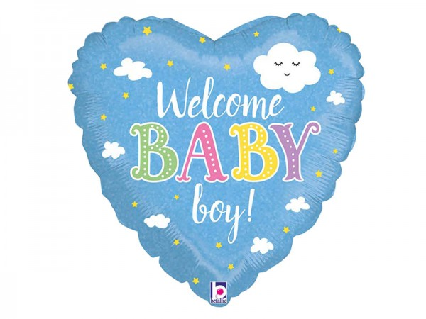 Folienballon Baby Boy hellblau Baby Shower