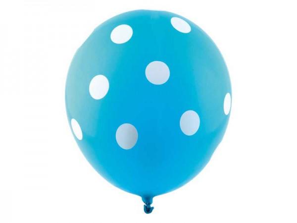 Luftballons blau mit weißen Punkten