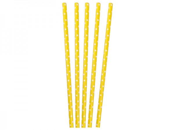Papierstrohhalme gelb Papiertrinkhalme