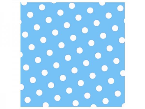 Servietten blau mit weißen Punkten