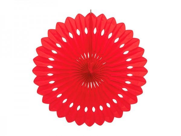 Dekofächer rot 40cm Wabenfächer