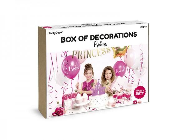 Geburtstagsdeko Set Prinzessin Partydeko Set für Kindergeburtstag