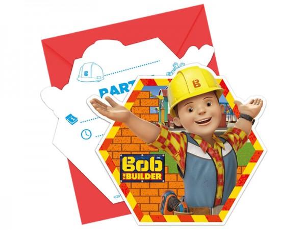 Geburtstagseinladungen Bob der Baumeister Einladungskarten Kindergeburtstag