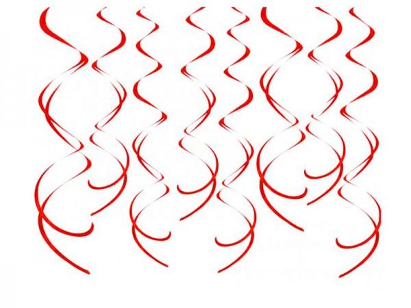Dekospiralen rot Spiralen 8 Stk.