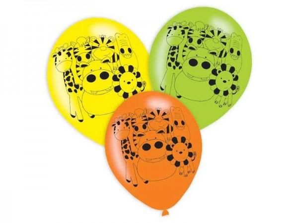 Luftballons Dschungeltiere Safari Latexballons