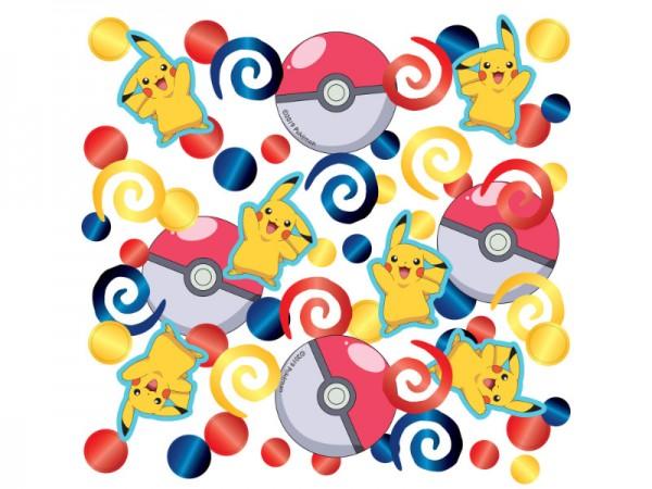 Pokemon Konfetti mit verschiedenen Pokemons
