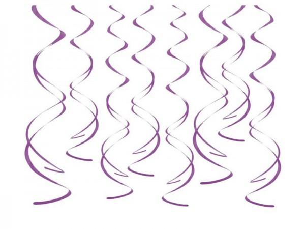 Dekospiralen lila Spiralen 8 Stk.