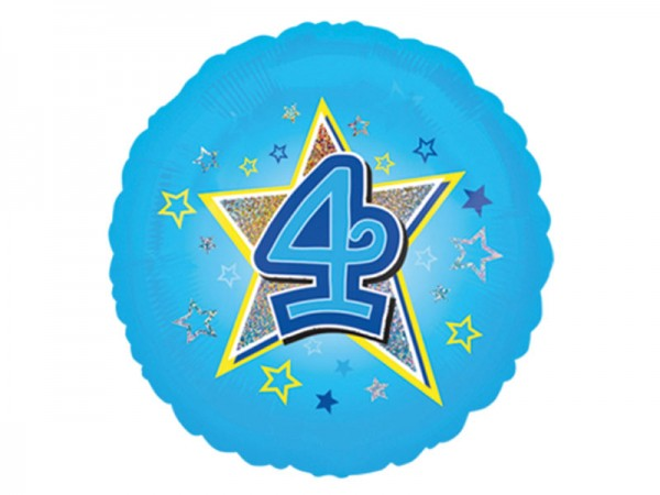 Zahlenballon 4. Geburtstag