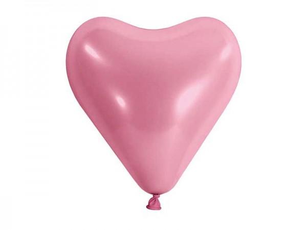 Herzballons rosa 10 Stk.