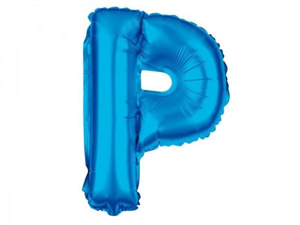Folienballon Buchstabe P blau Buchstabenballon