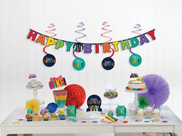 Buntes Geburtstagsdeko-Set für die Geburtstagsparty