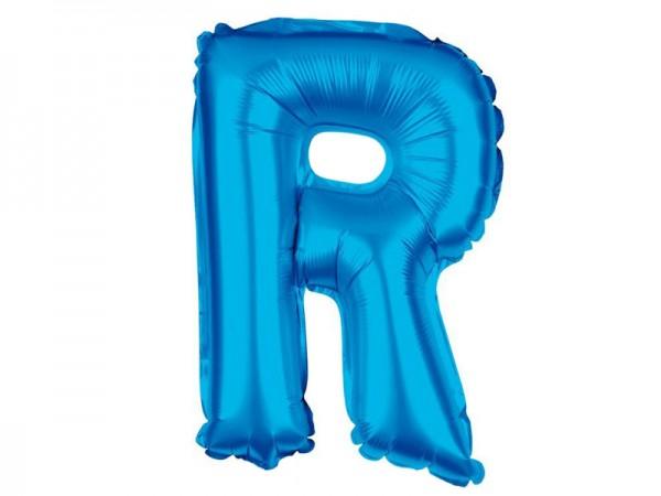 Folienballon Buchstabe R blau Buchstabenballon