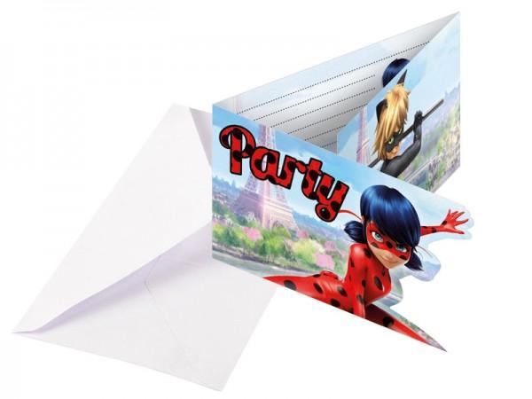 Geburtstagseinladungen Ladybug Einladungskarten Miraculous Kindergeburtstag