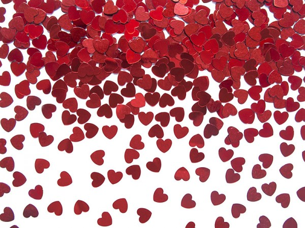 Konfetti Herzen rot Streukonfetti
