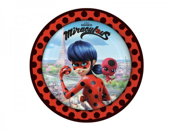 Pappteller Miraculous Ladybug Partyteller