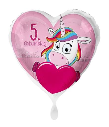 Zahlenluftballon Einhorn 5 Geburtstag Geburtstagsdeko