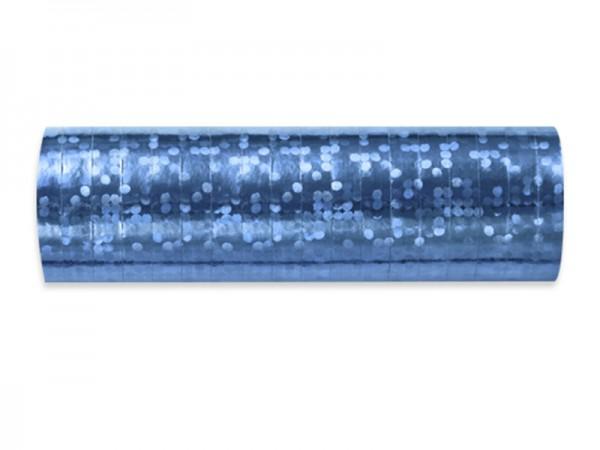 Luftschlangen hellblau holografisch glitzernd