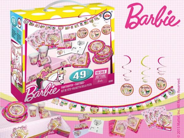 Geburtstagsdeko Set Barbie Partydeko Set für Kindergeburtstag