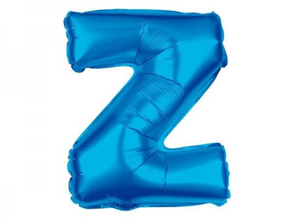 Folienballon Buchstabe Z blau Buchstabenballon